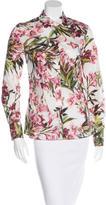 Dolce & Gabbana Floral Print Long Sleeve Top