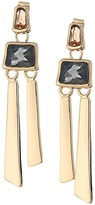 Robert Lee Morris Topaz & Black Diamond & Gold Linear Earrings