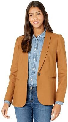 J.Crew Parke Blazer in Wool Flannel (Heather Caramel) Women's Jacket