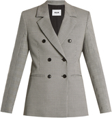 MSGM Double-breasted hound's-tooth blazer