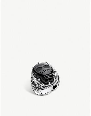 Thomas Sabo Onyx Skull sterling silver signet ring