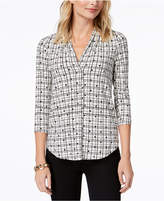 Charter Club Petite Printed Popover Shirt, Created for Macy's