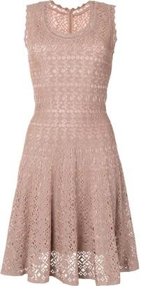 Alaïa Pre-Owned Crocheted Flared Dress