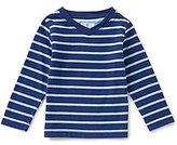 Class Club Little Boys 2T-7 Striped Long-Sleeve V-Neck Tee