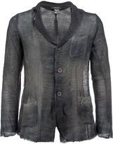 Avant Toi distressed knit blazer - men - Cotton/Linen/Flax - XXL