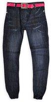 Generic Girls Skinny Elasticated Cuffed Jeans 5-6 Years