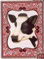 Pure Country Bandana Cow Throw - 70 x 54 Blanket/Throw