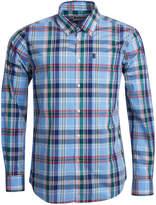 Barbour Men's Jeff Light Blue Plaid Oxford Shirt