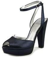 Adrianna Papell Gamma Women Open Toe Leather Blue Platform Heel.