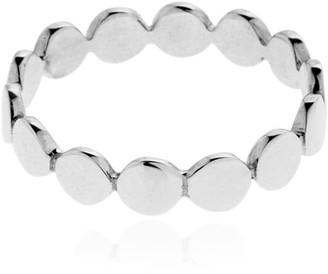 Saskia Diez Multi Paillettes Sterling Silver Ring
