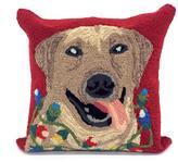 "Liora Manne Frontporch Happy Holidays Pillow - Red/18"" x 18"""