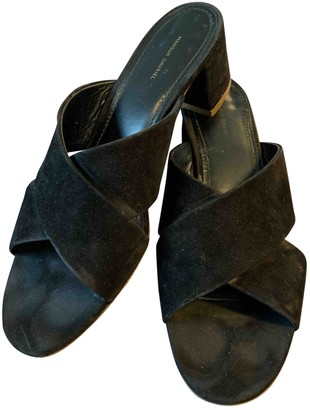 Mansur Gavriel Black Suede Sandals