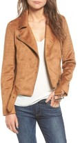 Cupcakes And Cashmere Women's Faux Suede Moto Jacket