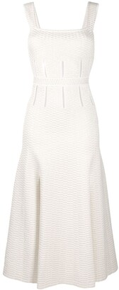 Alexander McQueen Geometric Knitting Midi Dress