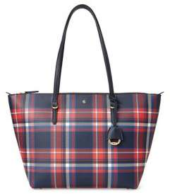 Lauren Ralph Lauren Plaid Tote Bag
