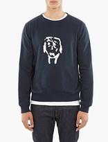 A.P.C. Navy Cotton Portrait Sweatshirt