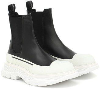 Alexander McQueen Tread leather ankle boots