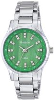 Swarovski Armitron Women's 75/5100GMSV Crystal Accented Green Dial Silver-Tone Bracelet Watch