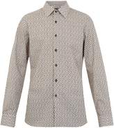 Prada Single-cuff arrow-print cotton shirt