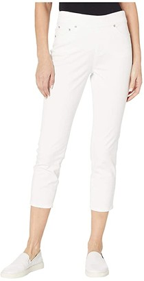 Jag Jeans Maya Pull-On Twill Crop (White) Women's Jeans