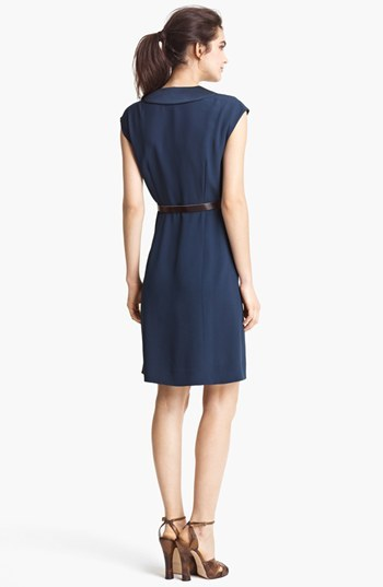 Marc Jacobs Satin Back Crepe Dress