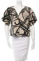 Giambattista Valli Abstract Print Short Sleeve Jacket