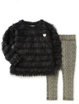 Juicy Couture Little Girl's Two Piece Faux Fur Sweater Set