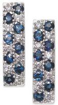 Macy's Sapphire (1-5/8 ct. t.w.) & Diamond (1/3 ct. t.w.) Drop Earrings in 14k White Gold