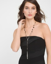 White House Black Market Beaded Y-Necklace With Fringe