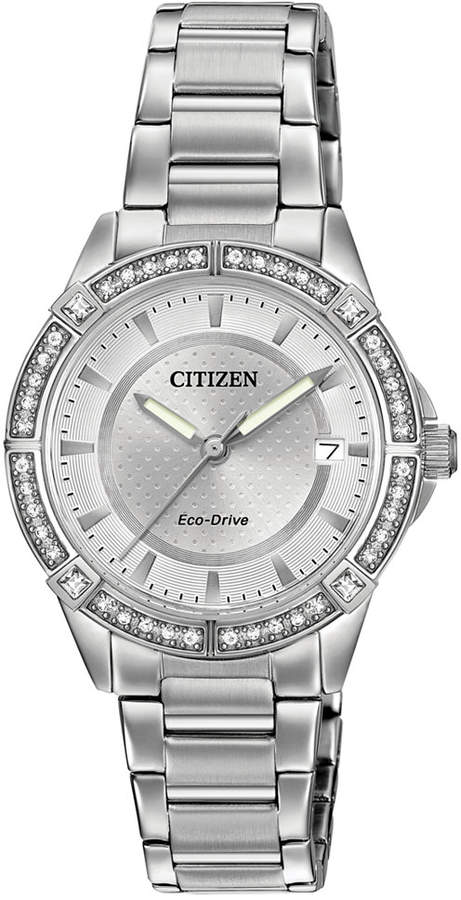 Citizen Women's Eco-Drive Stainless Steel Bracelet Watch 34mm FE6060-51A