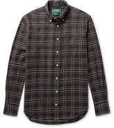 Gitman Brothers Button-down Collar Checked Cotton-flannel Shirt - Brown