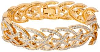 Susan Caplan Vintage 1980s Vintage Dorlan Swarovski Crystal Articulated Bracelet