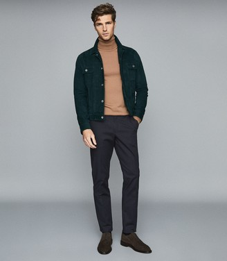 Reiss EASTBURY REG REGULAR FIT CHINOS Navy