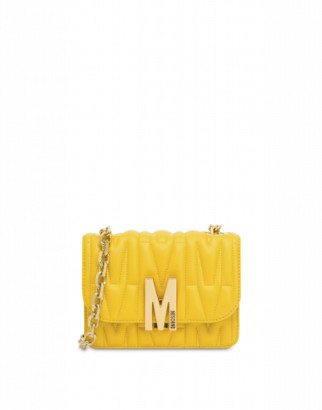 Moschino M Quilted Shoulder Bag Woman Yellow Size U It - (one Size Us)