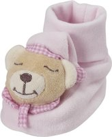 Playshoes Unisex Baby Rattling Booties Sleeping Bear Soft Shoes