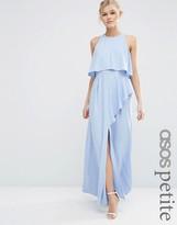 Asos Crop Top Ruffle Split Maxi Dress