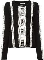 Altuzarra contrast jumper - women - Leather/Wool - M