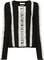 Altuzarra contrast jumper - women - Wool/Leather - S