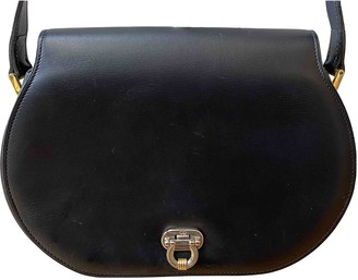 Christian Dior Navy Leather Handbags
