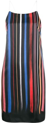 Adam Selman Sport Stripe Slip Dress