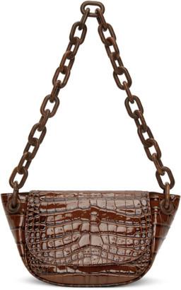 Simon Miller Brown Croc Bend Bag