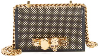 Alexander McQueen Mini Studded Leather Knuckle Crossbody Bag