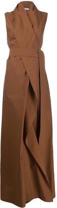 Brunello Cucinelli Wrap Style Maxi Dress