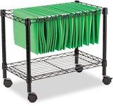 Alera FW601424BL Single-Tier Rolling File Cart, 24w x 14d x 21h