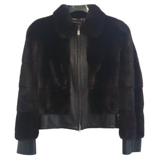 Giuliana Teso Black Mink Leather Jacket for Women