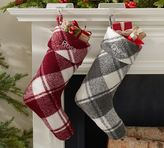 Pottery Barn Wool Poly Plaid Stockings
