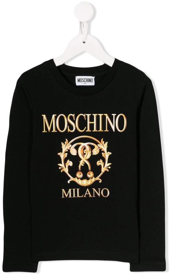 Moschino Kids Roman print sweatshirt