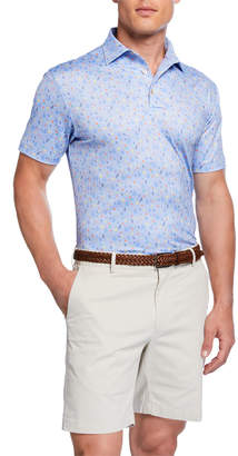 Peter Millar Men's Margarita Print Polo Shirt