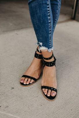Celeste Studded Heels - Black