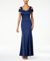 Night Way Nightway Off-The-Shoulder Gown